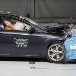 cellbond deformable crash test barrier blue Thatcham Research destrtive car crash test
